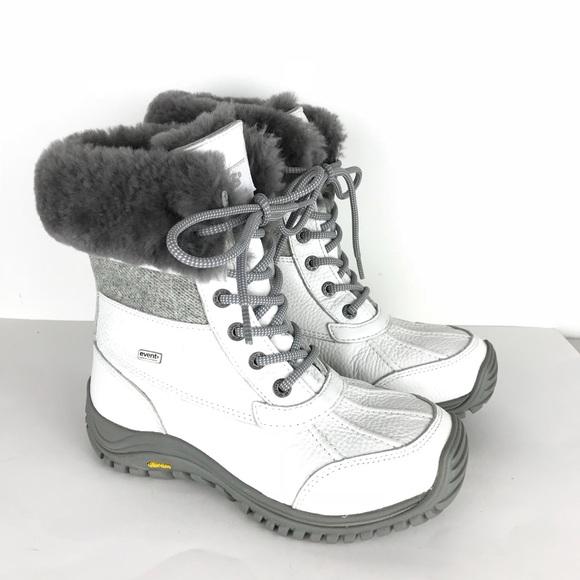 25e58282d7f UGG Australia ADIRONDACK tweed boots White Gray 6